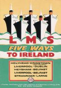 LMS Five ways to Ireland Travel Poster Print.